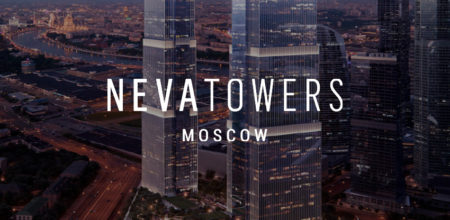 Геодезический контроль за монтажом модульного остекления фасада в ЖК Neva Towers